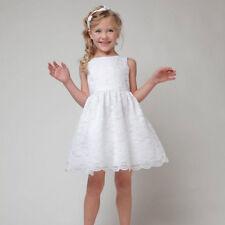 Flower Girl Princess Dress Kids Birthday Party Pageant Wedding Lace Tutu Dresses