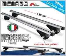 Menabo Brio XL 135 Coppia Barre Portatutto di Alluminio per Auto - Argente