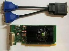 NVIDIA NVS 315 1GB Dual Monitor Windows 10 Video Card & Adapter Slim or Full PC