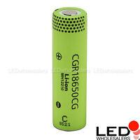 Panasonic CGR18650CG 2250mAh Lithium-Ion Li-Ion Rechargeable Battery Cells Lot