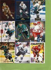 JEFF FRIESEN ++VERY NICE ++ 21 Card lot With Rookies + Insert + Regular Cards
