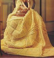 "Baby Crochet Afghan/Blanket Pattern ""Popcorn Squares"" in DK 768"