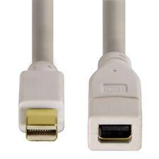 Hama Mini-DisplayPort-Verlängerungskabel für MAC, 1,5 m, vergoldet, Weiß 53219