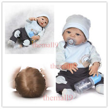 22'' Reborn Baby Boy Doll Full Body Silicone Vinyl Anatomically Correct Bath Toy