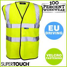Pro High Visibility Yellow Waistcoat Reflective Vest Work Safety Hi Vis Viz EU