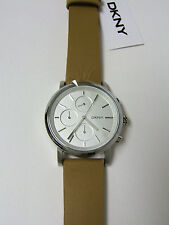 (W) DKNY SOHO CHRONOGRAPH WATCH LIGHT BROWN LEATHER BAND NY2336 NEW WITH TAG