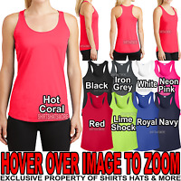 Ladies Wicking Racerback Tank Top Dri Fit T-Shirt Yoga Exercise Womens XS-4X NEW