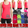 Ladies Wicking Racerback Tank Top Dri Fit T-Shirt Yoga Exercise Womens XS-4X NEW