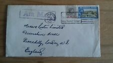 KGVI Bahamas, Cover Letter Nassau to Piccadilly, Slogan Cancel & Air Mail Cachet
