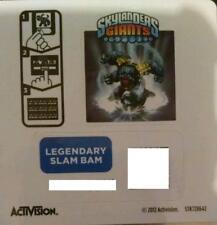 Legendary Slam Bam Skylanders Giants Sticker/Code Only!