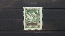 Polen 1950 / Kat. Fischer Nr. 529 mit Aufdruck Groszy und mit Prüfzeichen  Unge