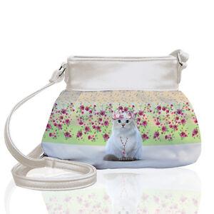 Teo Jasmine Cat Lovers Small Purse Bag Cross Body Shoulder Holiday Handbag