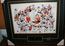 1974-1975 Stanley Cup Flyers Litho signed by 19 Players Framed Limited Edition 3