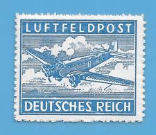 Germany Third Reich German Swastika Plane Feldpost stamp  WW2 ERA #2