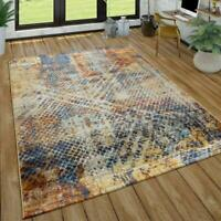 Rug for Living Room Modern Abstract Colourful Mats Low Pile Small X Large Carpet