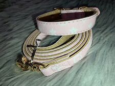 Luxury Pink LV Pet Collar And Leash