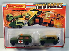 DTE 1975 CARD LESNEY MATCHBOX SUPERFAST TWIN PACK TP 12 MILITARY POLICE & FIELD