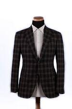 New PAL ZILERI SARTORIALE CASHMERE Jacket Coat Dark Gray Checks 40 US 50 EU