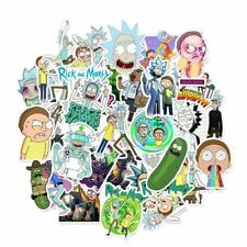 35 Pcs Rick and Morty Doodle Stickers Cartoon Trolley Case Laptops Ipad Luggages