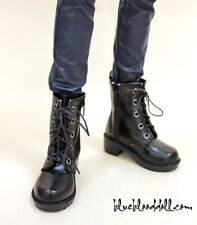 1/3 bjd sd13 sd17 boy doll shoes black military boots super dollfie luts ship US