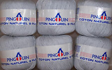12 x 50gm TURTLEDOVE GREY - 8 Ply -  COTTON Made In France