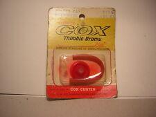 COX FILTER CAP with hOSE 753 35 EA  T.D Tee Dee  vintage RC part bougie