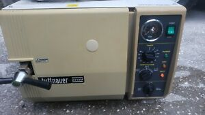 TUTTNAUER 2340M STEAM STERILIZER MANUAL AUTOCLAVE 3 TRAYS TESTED FREE SHIPPING