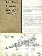 Fairey Delta 2 FD2 PN RARE detail 1950's experimental historic archive manual