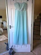 Debenhams Debut Prom / Bridesmaid Pale Green Ball Gown Maxi Dress Size 14 BNWT