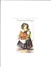 1 card Italian Get Well card Mainzer 741 Auguri di Rapida pronto -