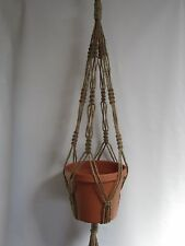 Macrame Plant Hanger 34in 6PLY All Natural JUTE- heavy Dtuy