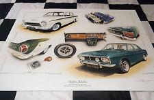 1963 FORD LOTUS CORTINA MK1 & 1970 MK2 FORD CORTINA 1600E NEW PAINTING PRINT ART