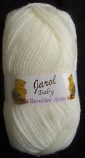 Cream Baby Rambler Aran by Jarol  5 x 100grms