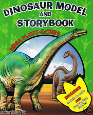 MEGA PLANT-EATERS Press-Out DINOSAUR Models & Fun Facts Activity Book Ages 3+