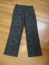 Clio Size 4 Greens Paisley Stretch Pants  Soft & Cute Poly/Spandex