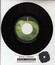 """JOHN LENNON Cold Turkey BEATLES 7"""" 45 rpm record + juke box title strip NEW"""