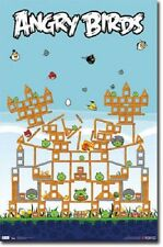 ANGRY BIRDS PIG FORT VIDEO COMPUTER CELL I PHONE GAME 22x34 POSTER FREE SHIP