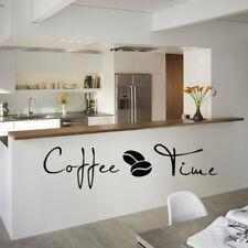 Coffee Kitchen Wall Decals Sticker Cafe Vinyl Art Decor
