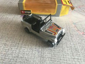 Ancienne Voiture Miniature Renegade Jeep Burago cod 4006 CJ7 Made in Italy 1/43