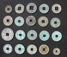 Collection of 20 Ancient Chinese Coins (BC221-1911AD)-With Exquisite Wood Box