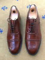 Sanders Mens Shoes Brown Leather Lace Up UK 12 US 13 EU 46 Ash