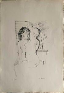 Ugo Attardi Figure litografia  71x50 firmata numerata Il Torcoliere  Stampatore