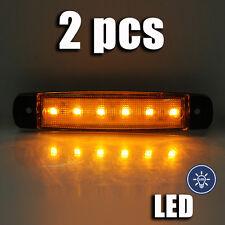 2x 24v LED SMD NARANJA Luz de Marcador Lateral Posición LUZ TRASERA
