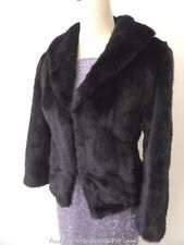 ANNE OF MELBOURNE  Vintage Black Tyber Imitation Fur Jacket  Size 10 US 6 UK 10