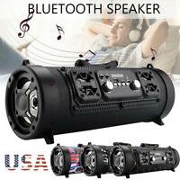 Portable Wireless bluetooth Speaker Super Bass Stereo Radio HIFI FM TF AUX USB ~