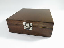 Restored Vintage Fingerjoined Solid Mahogany Instrument Storage Box