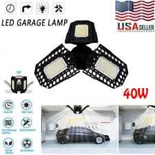 40W Deformable Led Garage Light WorkShop Ceiling Lights Bulbs In/outdoor Lamp Us