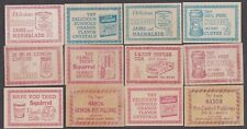 12 Diff 1950's Canadian NABOB #'ed Coupons