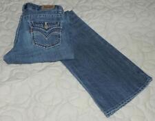 "EC LEVI'S ""BOOT CUT"" GIRLS SIZE 12 REG 5-POCKET STRETCH BLUE JEANS w/STITCHING"