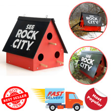 See Rock City Birdhouse Purple Martin Feeder Garden Yard Rustic Decor